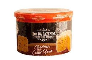 Queijo Trufado com Cheddar com Carne Seca - Bom da Fazenda (Peso médio 0,700 Gr)