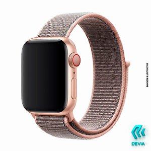 Pulseira Apple Watch Tecido 40mm Pink Sand Devia