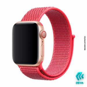 Pulseira Apple Watch Tecido 44mm Hibiscus Devia