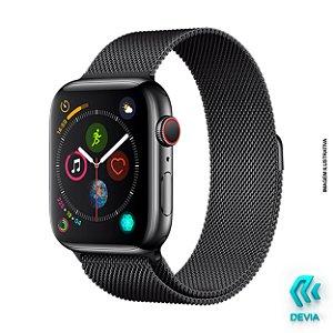 Pulseira Apple Watch Milanese 44mm Black Devia