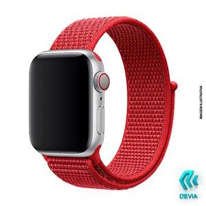 Pulseira Apple Watch Tecido 44mm Red Devia