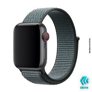 Pulseira Apple Watch Tecido 44mm Storm Gray Devia