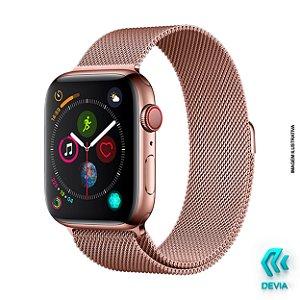 Pulseira Apple Watch Milanese 44mm Rose Gold Devia