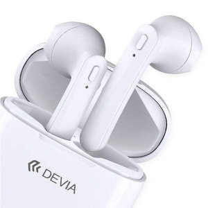Earphones Wireless Smart White Devia