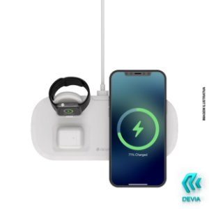Carregador Wireless 3 em 1 para iPhone 12 e Apple Watch