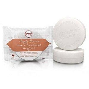 Sabonete de Argila Branca com Macadâmia 100g - Boutique do Corpo