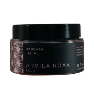 Máscara Facial de Argila Roxa 100g – Bergamia