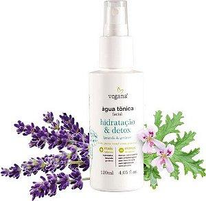 Água Tônica Facial Hidratação & Detox – 120ml WNF Vegana