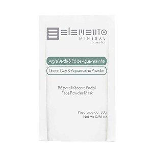 Argila Verde com Pó de Água-marinha 30g -Elemento Mineral