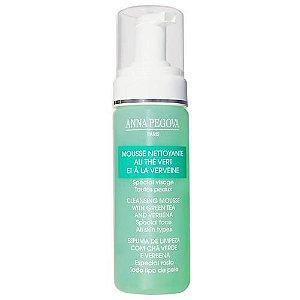 Espuma de Limpeza Facial - Mousse Nettoyante au Thé Vert et à la Verveine- 175ml - Anna Pegova