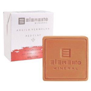 Sabonete de Argila Vermelha Natural 100g – Elemento Mineral