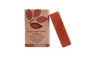 Sabonete Natural de Cupuaçu, Argila Vermelha e Petitgrain 115g - Ares de Mato