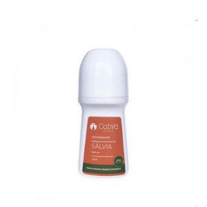 Desodorante Roll-on Natural de Sálvia 70ml – Cativa Natureza