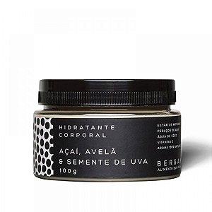 Hidratante Corporal de Açaí, Avelã e Semente de uva 100g - Bergamia