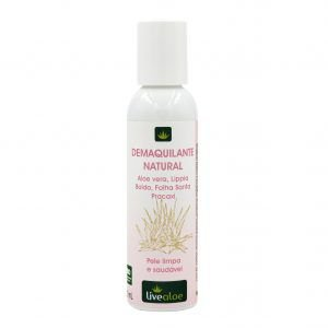 Demaquilante Natural com Aloe Vera Orgânica 120ml – Livealoe