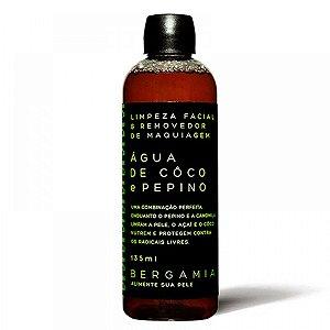 Demaquilante Facial de Água de Coco e Pepino 135ml – Bergamia