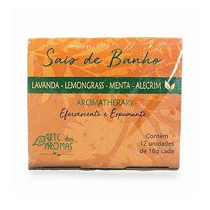 Sais de Banho Efervescentes Natural Aromatherapy Lemongrass com 12 unidades - Arte dos Aromas