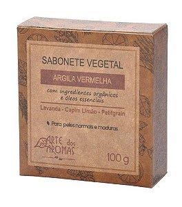 Sabonete Vegetal Natural de Argila Vermelha 100g - Arte dos Aromas