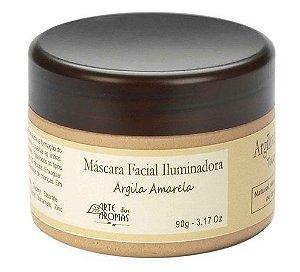 Máscara Facial Iluminadora Natural Argila Amarela 90g - Arte dos Aromas