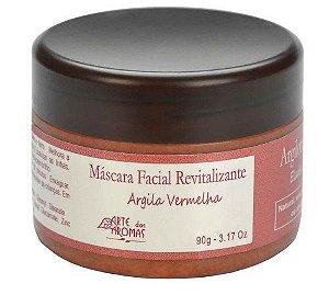 Máscara Facial Natural Revitalizante Argila Vermelha 90g - Arte dos Aromas