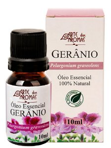 Óleo Essencial de Gerânio 10ml - Arte dos Aromas