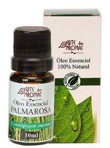 Óleo Essencial de Palmarosa 10ml - Arte das Aromas