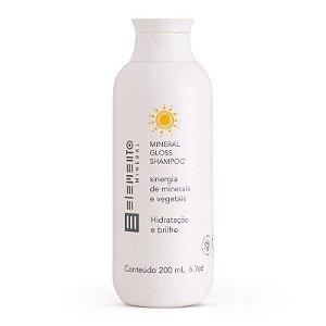 Shampoo Mineral Gloss Hidratação e Brilho 200ml – Elemento Mineral
