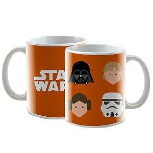 Caneca Personalizada Star Wars Laranja 325mL