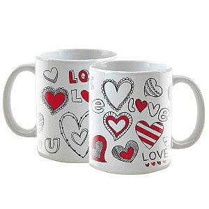 Caneca Personalizada Love U Branca 325mL