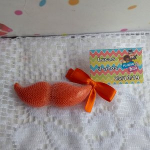 Lembrancinha Festa Infantil Mundo Bita Sabonete Artesanal Bigode