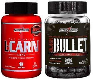 Combo emagrecimento Black Bullet (60 caps) + L-carn (60 caps)  Integralmedica