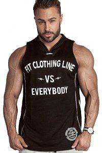 REGATA MASCULINA BASKET FITCLOTHINGLINE VS EVERYBODY PRETA - FIT CLOTHING LINE