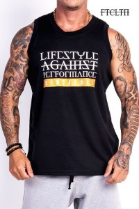 REGATA BASIC DRY FIT LIFE STYLE PRETA E DOURADO - Fit Clothing Line