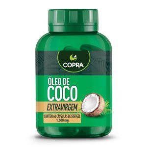 Óleo de Coco Extravirgem 1000mg (60 caps) - COPRA