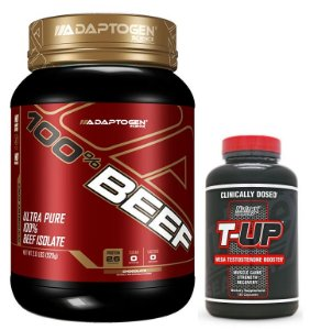 100% Beef 909g Adaptogen + T UP (60 caps) Nutrex