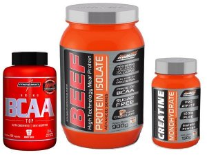 Combo Beef Protein Isolate (900g) New Millen + Creatine Monohydrate (150g) New Millen + BCAA TOP (120 caps)