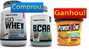 Iso Whey 900g + BCAA TCM (90 caps) Nutrata - Ganhe Pasta de Amendoim Power 1 One