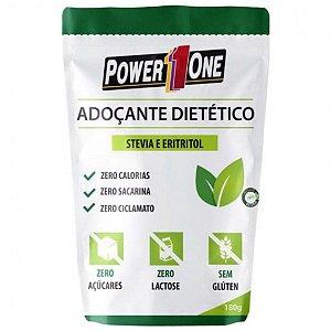 ADOÇANTE DIETÉTICO STEVIA E ERITRITOL - 180g - POWER ONE