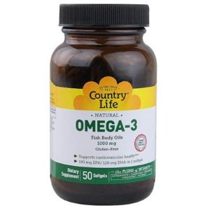 ÔMEGA 3 COUNTRY LIFE 1000MG (50 Softgels)