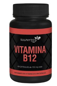 VITAMINA B12 150mg 60 Cápsulas - Sulphytos