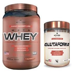 Meta Whey (900g)  + Glutaform (300g) -  Metaform Nutrition
