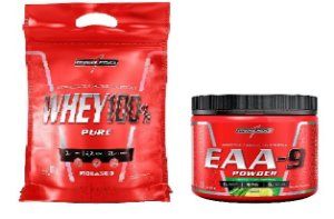 COMBO WHEY 100% 900G + EAA-9 POWDER - INTEGRALMEDICA