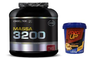 MASSA 3200 ( 3KG ) + PASTA DE AMENDOIM FORCE UP ( 1KG )