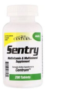 SENTRY / CENTURY - MULTIVITAMÍNICO E MULTIMINERAL -  200 CAPS
