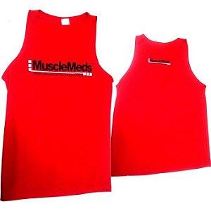 Camiseta Regata Masculina (VERMELHA) Dry Fit - MuscleMeds