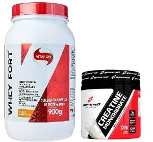 WHEY FORT 900G - VITAFOR + CREATINA 150G - BODYACTION