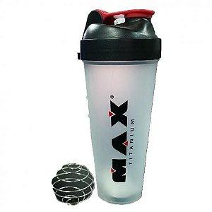 SHAKER 600ML com Mola - Max titanium