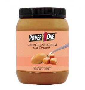 Creme de Amendoim com Caramelo (1kg) - Power1One