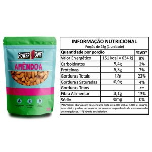Nuts Amêndoas 25g - Power One