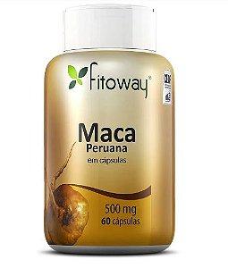 MACA PERUANA 500mg - 60 CÁPSULAS - FITOWAY